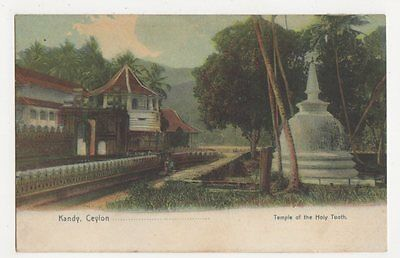Ceylon, Kandy, Temple of the Holy Tooth Postcard, B239