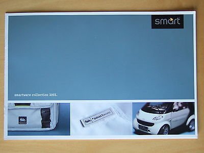 Smart city coupe Smartware collection & price list UK sales Brochure 2002