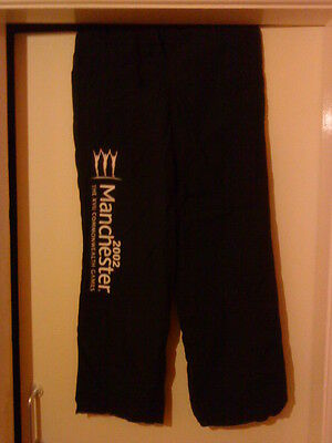 Manchester 2002 Commonwealth Games Official Volunteer Track Bottoms Size 14 Vgc