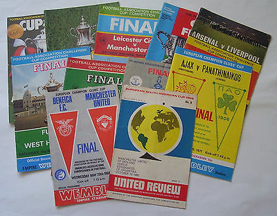 Football Programmes - Old Cup Finals - Listed