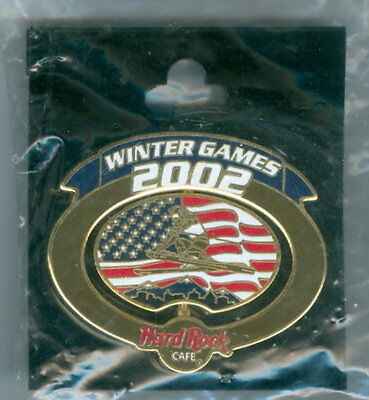 Hat / Lapel Pin Original Vintage Hard Rock Cafe 2002 Winter Games