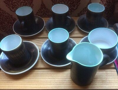 CINQUE PORTS POTTERY -THE MONASTERY RYE. 12 Pieces Cups, Jug Etc.