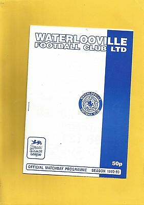 Friendly Waterlooville v Notts County 25th July 1992 VGC