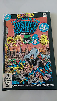 Last Days Of The Justice Society Of America Special #1 (1986) Dc Comics 68 Pages