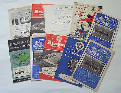 1950's FOOTBALL PROGRAMMES - LISTED