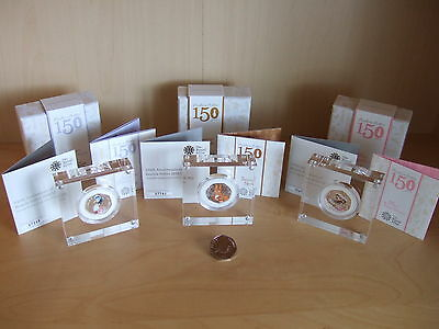 Beatrix Potter Coins, 3 rare Coloured Silver Proof & 1 Peter Rabbit 50p Reduced£