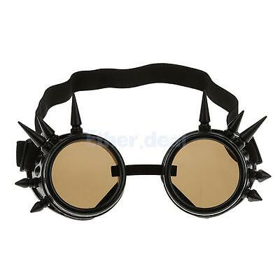 Weinlese Steampunk Spiked Goggles Cyber Punk Cyber Gothic Rave