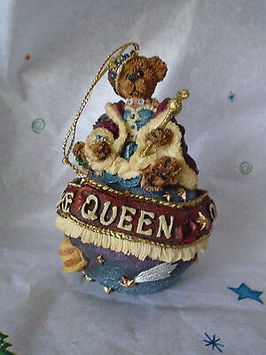 Boyds Bear QUEEN OF THE UNIVERSE #25709 TBC 1998 Christmas Ornament 4""