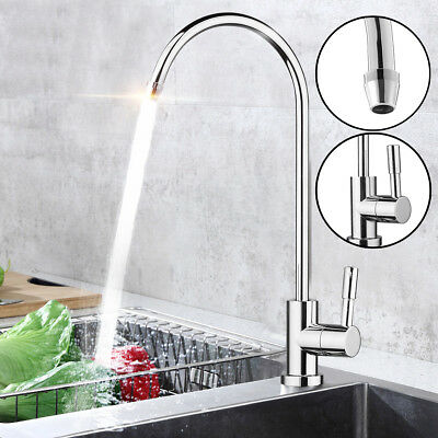 1/4'' 360° Chrome Osmosis Drinking RO Water Filter Faucet Finish Reverse Sink