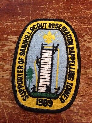 Sand Hill Scout Reservation Rappelling Tower 1989 BSA Boy Scouts H174
