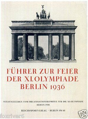 OLYMPICS Berlin 1936 Programme / Guide Cover Summer Olympic Games
