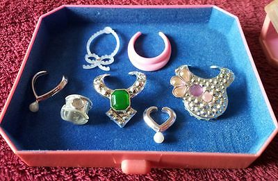 Vintage Barbie JEWEL SECRETS Perfume Pretty Case & Jewelry 1987 Jewellery