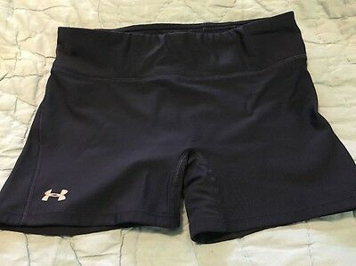 Under Armour womens Compression Fitted Shorts Medium Dark Blue 3""