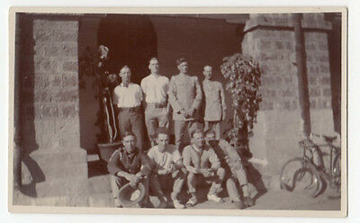 Vintage RPPC Real Photo PC Military Group of Men somewhere hot