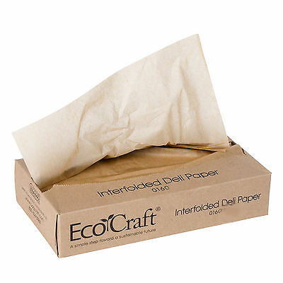 016008 EcoCraft Interfolded Dry Wax Deli Paper 8x10 3/4  12 boxes of 500