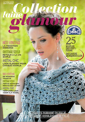 Catalogue Tricot Dmc  Collection Laine Glamour Modele Exclusif Femme  Metal Chic