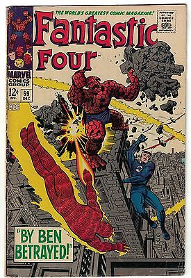 Marvel Comics FANTASTIC FOUR Issue 69 By Ben Betrayed! VG