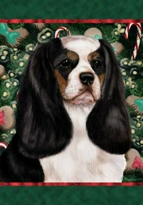 Large Indoor/Outdoor Holiday Flag - Tri Cavalier King Charles Spaniel 14048