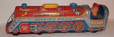 Modern Toys Japan Mountain Special Train with Engineer/Driver Tin Toy FOR PARTS
