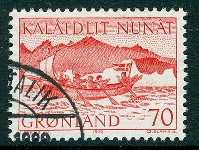 GREENLAND 1972 stamp Mail Boat fine used Flags
