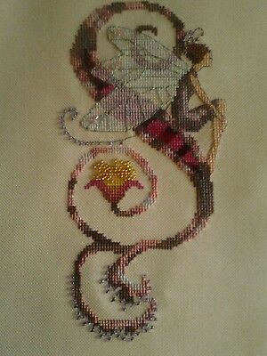 Nora Corbett Letter S Completed Cross Stitch