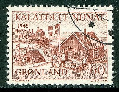 GREENLAND 1970 stamp Liberation of Denmark 25th Anniversary fine used (CTO)