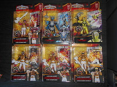 power rangers megaforce, lot de 6 figurines, 9 cm