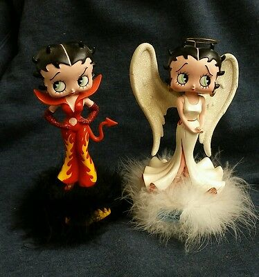 BETTY BOOP Angel Devil Bobble Heads Its Not Easy To Be This Good/Bad 2 Figures