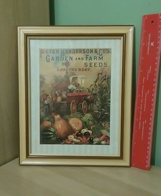 Great Small Agricultural Advertising Poster Hendersons Seeds