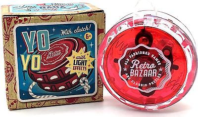 Retro Bazaar RED Yo Yo with Clutch and LED Light Effects - Stock Filling