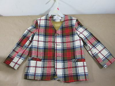 Vintage 1964 Sears Roebuck Child's 5 Pooh LTD Collection Wool Jacket Button Down
