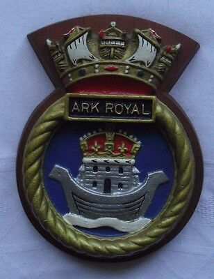 H.m.s. Ark Royal Military Crest Wall Plaque