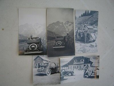 Lot N°5 Photos Voiture Ancenne Coupe Decouvrable A Identifier