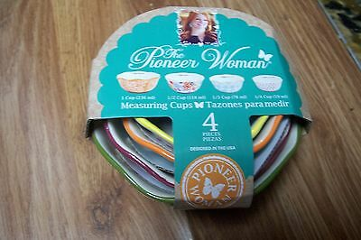 The Pioneer Woman-Ree Drummond BRAND NEW 4 Piece Flea Market Measuring Cup Set