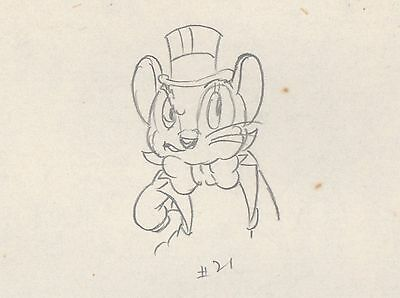 Country Cousin Disney 1936 Monty Silly Symphony Production Cel Drawing 2*