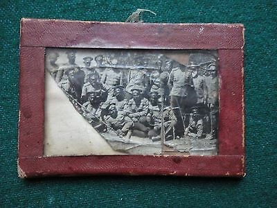 Antique Russian Emigre Framed Photo of Russian Officers Generals in Civil War