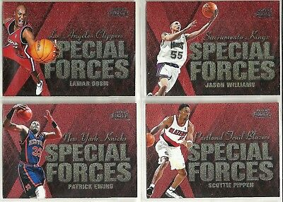 1999-00 Fleer Force 4-card Special Forces NBA Insert Lot  Pippen  Ewing  Odom