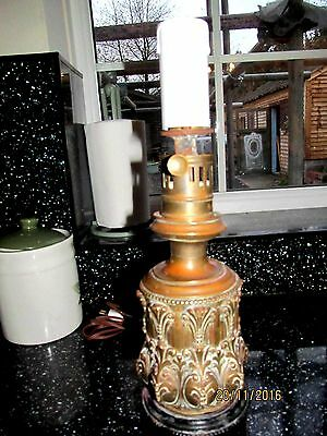 BREVET EARLY FRENCH BRASS  OIL  LAMP FOR RESTORATION   c1836 CONVERTED