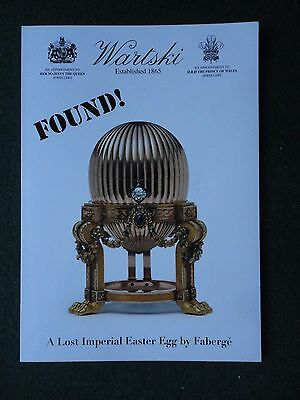 Wartski London Faberge Jeweller Lost Imperial Romanov Family Easter Egg Found