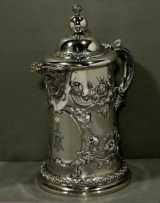 English Sterling Pitcher         PAUL STORR       1863        43OZ