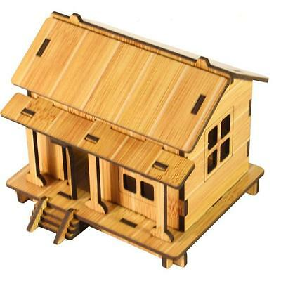 DIY House 3d jigsaw puzzle toys wooden adult children's intelligence toys