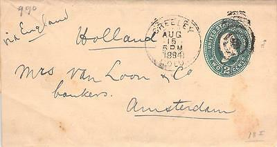 1894 Greely Colo Wrapper, UPSS1023  to Amsterdam, CV $12+
