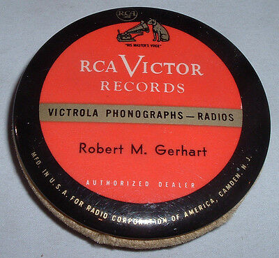 Vintage RCA Victor Records Phonograph Record Cleaner Robert M. Gerhart ,hanover