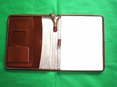 Vintage Brown Tan Cow Hide Leather Filofax Address Book Telephone Organizer