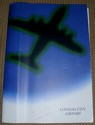 Folder Assorted Material (Press Releases etc.) From London City Airport