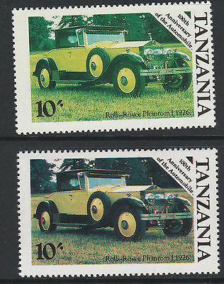 Tanzania (30) 1986 Motoring Rolls Royce Cars 10s RED OMITTED plus normal mnh
