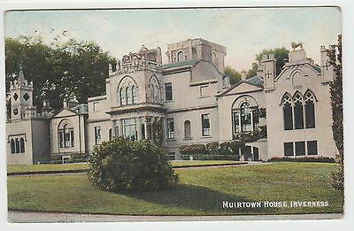 Muirtown House, Inverness:~1903 Vintage Tinted PPC, by E.G.Fraser, G.Used 1906