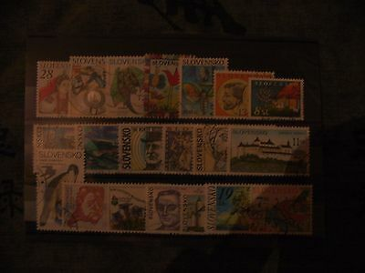 20 Timbres Obliteres Slovaquie - 20 Used Stamps Slovakia