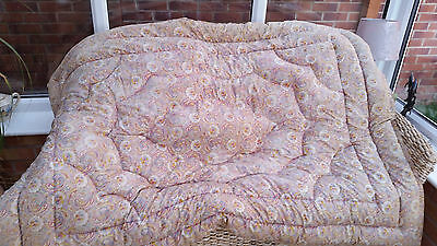 "Vintage  Paisley   Feather Eiderdown 64"" By 46"""