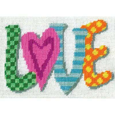 Love Needlepoint Kit-7 Inch X 5 Inch Stitched In Yarn 021465025681